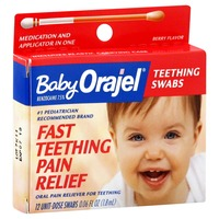 Orajel Teething Berry Flavored Swabs Baby Oral Pain Reliever