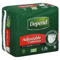 Depend Adjustable Maximum Absorbency L/XL Underwear