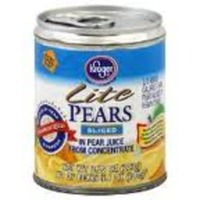 Kroger Lite Pear Halves in Pear Juice From Concentrate
