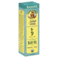 Badger Chamomile & Calendula Calming Baby Oil