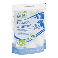 Grab Green Bleach Alternative HE Laundry Detergent Pods, Fragrance Free