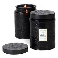 Voluspa Japonica Collection, Large Embossed Jar Candle, Moso Bamboo