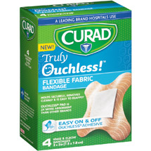Curad Truly Ouchless! Knee & Elbow Flexible Fabric Bandages