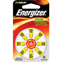 Energizer Size 10 Mercury-Free Hearing Aid Batteries