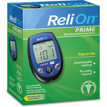 ReliOn Prime Blood Glucose Monitoring System Blue
