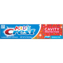 Crest Kid???s Fluoride Cavity Protection Sparkle Fun Flavor Toothpaste