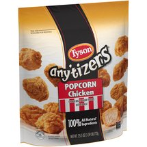 Tyson / Anytizers White Meat Chicken Fritters Anytizers Popcorn Chicken