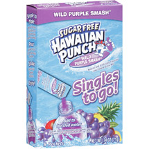 Hawaiian Punch Singles Wild Purple Smash Drink Mix
