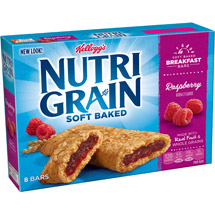 Kellogg's Nutri Grain Raspberry Cereal Bars 8 Ct/10.4 Oz