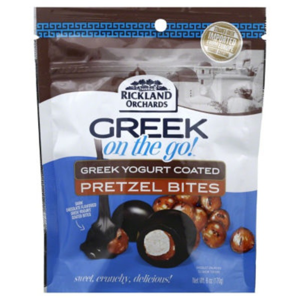 Rickland Orchards Greek On The Go! Greek Yogurt Coated Dark Chocolate Pretzel Bites