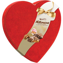 Pangburn's of Texas Millionaires Valentine Chocolate Candies Velvet Heart Box