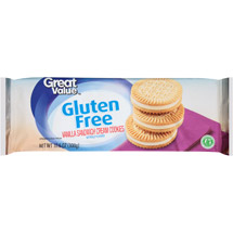 Great Value Gluten Free Vanilla Sandwich Cream Cookies