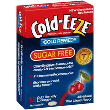 Cold-EEZE Sugar Free Wild Cherry Flavor Cold Remedy Lozenges