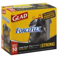 Glad Force Flex Large Trash Drawstring Bags Extra Strong - 50 CT