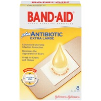 Band Aid® Brand Adhesive Bandages Antibiotic Extra Large All One Size Super Premium