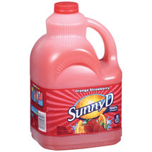 Sunny D Orange Fused Strawberry Citrus Punch 128 Fl Oz