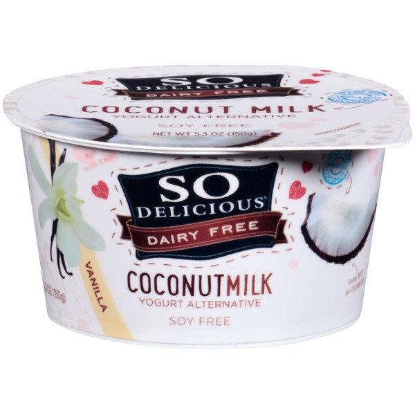 So Delicious Dairy Free Coconut Milk Vanilla Yogurt Alternative