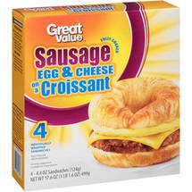 Great Value Sausage Egg & Cheese on a Croissant