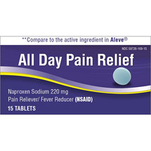 All Day Naproxen Sodium Pain Reliever/Fever Reducer Tablets