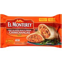 El Monterey Chimichangas Spicy Jalapeno Bean & Cheese 8 Pk