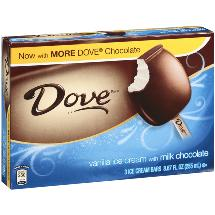 Dove Vanilla Ice Cream Ice Cream Bars With Milk Chocolate