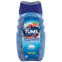 Tums SmoothiesExtra Strength Berry Fusion Antacid/Calcium Supplement