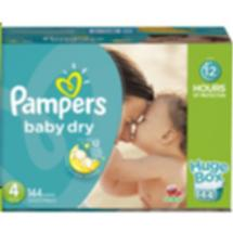 Pampers Baby Dry Diapers Huge Box Size 4