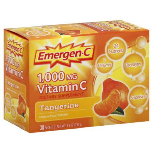 Emergen-C Tangerine Vitamin C 1000mg Drink Mix Dietary Supplement