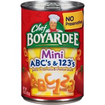 Chef Boyardee ABC's & 123's In Tomato & Cheese Sauce Mini-Bites Pasta