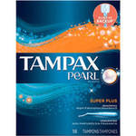 Tampax Pearl Plastic Super Plus Absorbency Tampons (Choose your Count)