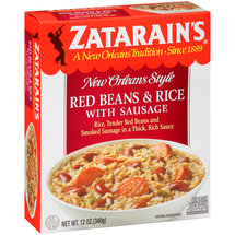 Zatarain's Jambalaya Red Beans Rice With Sausage Frozen Entree