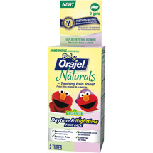 Baby Orajel Naturals Daytime & Nighttime Teething Gel Twin Pack
