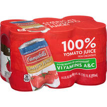 Campbell's Tomato Juice 5.5 Fl. oz. Cans Vegetable Juice