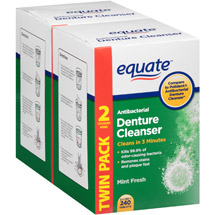 Equate Antibacterial Mint Fresh Denture Cleanser Tablets