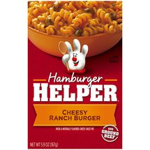 Hamburger Helper Cheesy Ranch Burger