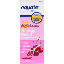Equate Children's Allergy Relief Cherry Flavor Antihistamine/Cough Suppressant/Nasal Decongestant
