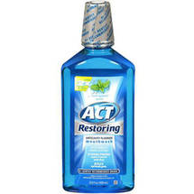 ACT Cool Splash Mint Restoring Anticavity Fluoride Mouthwash