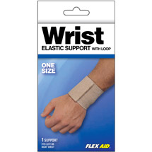Flex Aid Elastic Wrist Support with Loop One Size
