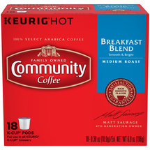Community Coffee Breakfast Blend Medium Roast Coffee K-Cup Pods