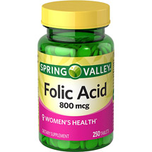 Spring Valley Folic Acid Tablets