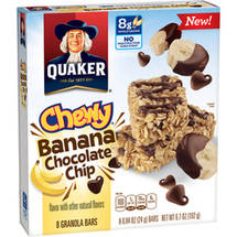 Quaker Chewy Banana Chocolate Chip Granola Bar