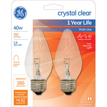 GE 40-Watt Crystal Clear Flame Tip Decorative Bulb