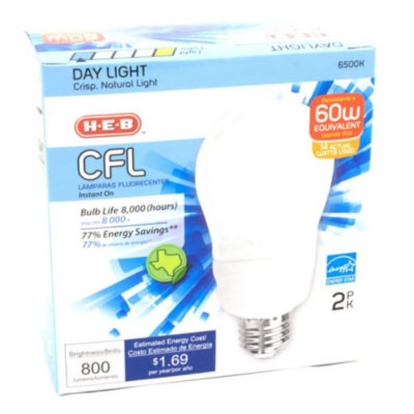 H-E-B Type 14 Watt Day Light Cfl Bulb