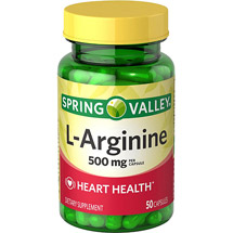 Spring Valley L-Arginine Dietary Supplement 1000 mg per serving