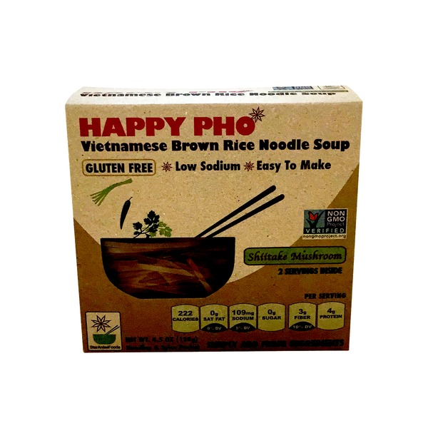 Happy Pho Vietnamese Brown Rice Noodle Soup Gluten Free Shitake Mushroom