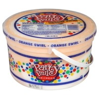 Kroger Party Pail Ice Cream Orange Swirl