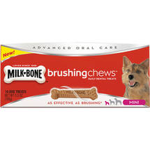 Milk-Bone Brushing Chews Mini Daily Dental Dog Treats 14 ct Box