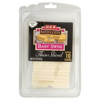 H-E-B Thin Sliced Baby Swiss
