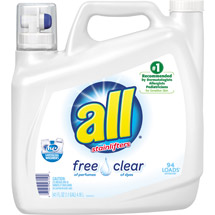 All with Stainlifters Free of Perfumes Clear of Dyes Liquid Laundry Detergent