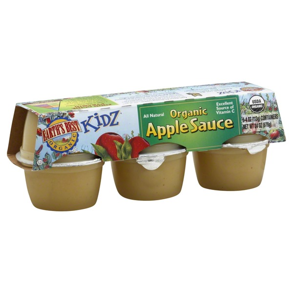 Earth's Best Organic Kidz Organic Apple Sauce - 6 CT